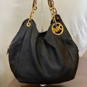 Michael Kors Collection Fulton Leather Hobo Bag